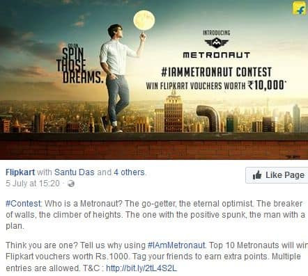 Run a contest on social media to drive traffic to online store