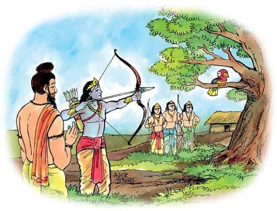arjuna-aiming