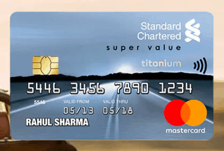 standard chartered super value titanium credit card india