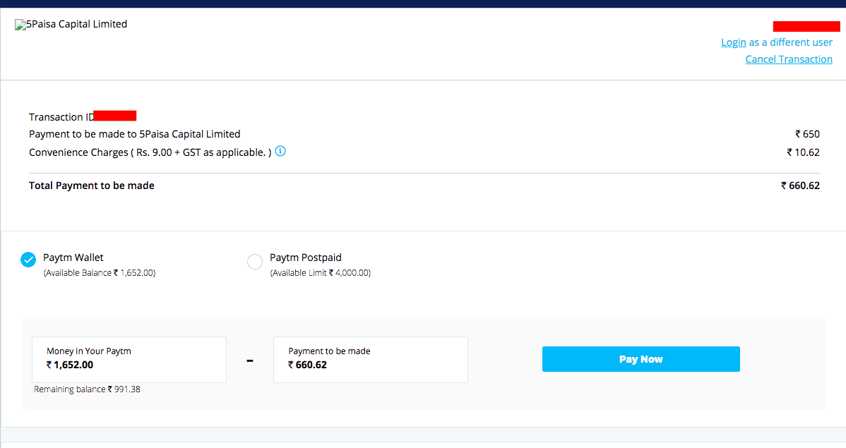5 Paisa Account Opening Process