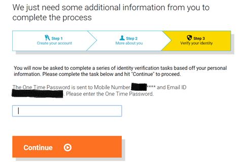 Verify your identity, How to check CIBIL score
