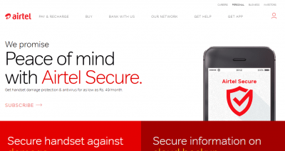 Airtel Secure Mobile Insurance