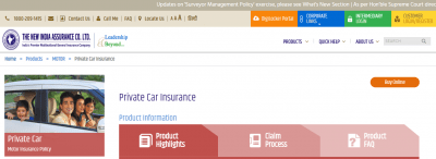 New India Assurance Car Insurance