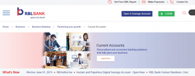 RBL Bank Current Account
