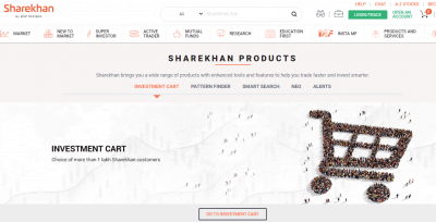 Investment Cart of Sharekhan