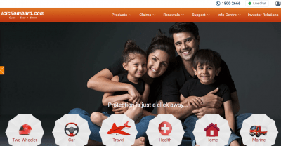 ICICI Lombard two wheeler insurance