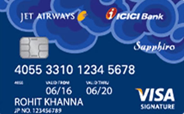 ICICI Jet Privilege Sapphiro Credit Card