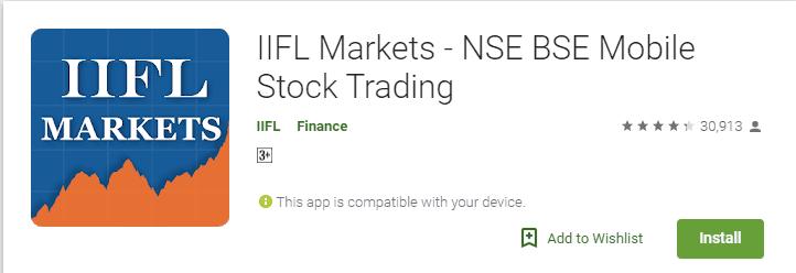 IIFL market mobile app